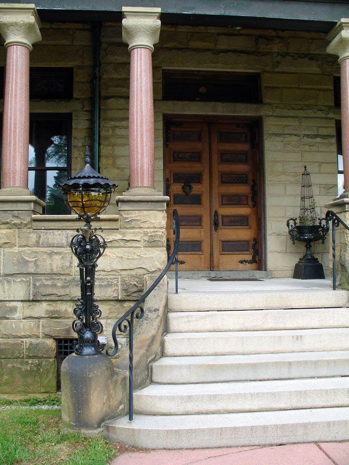 Porch Railings For Steps Concrete Front Steps On A Curve