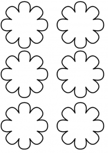 Flower Template Coloring 3