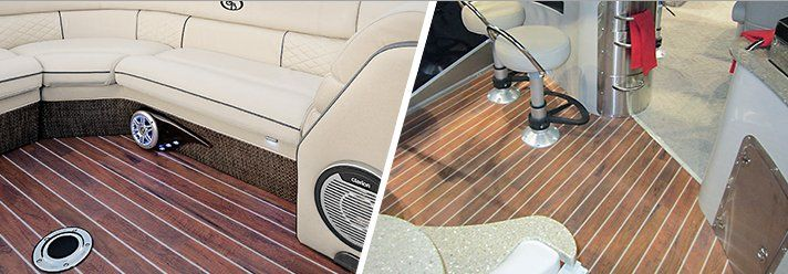 Aquatread Flooring Makes You And Your Boat Look Good Just Roll It Out Trim And Glue It Down And You Re Ready For A Rock With Images Marine Flooring Deck Flooring Flooring