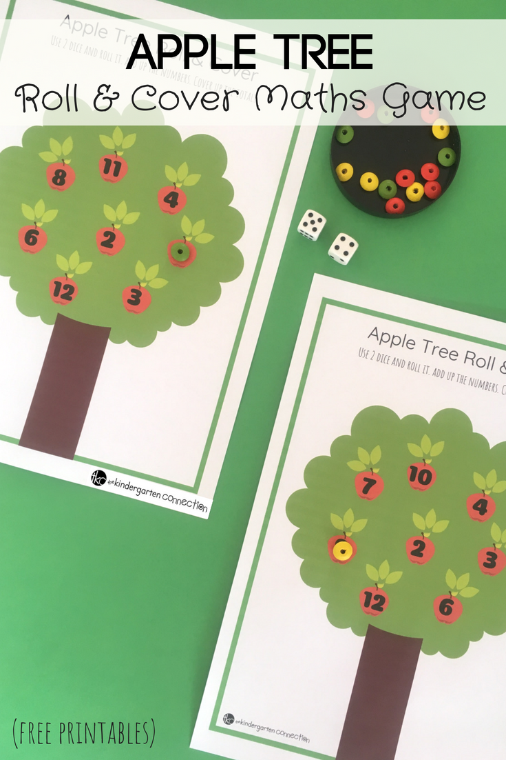Apple Tree Roll And Cover Math Game Math Games Kindergarten Math Games Kindergarten Games [ 1102 x 735 Pixel ]