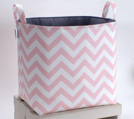 Cute Laundry Basket Chevrons Storage Baskets Toy Bins