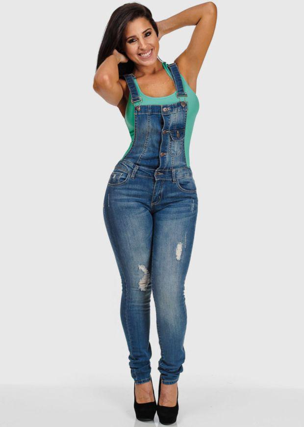 Denim Overalls Skinny Jeans | jeans | Pinterest | Skinny jeans ...