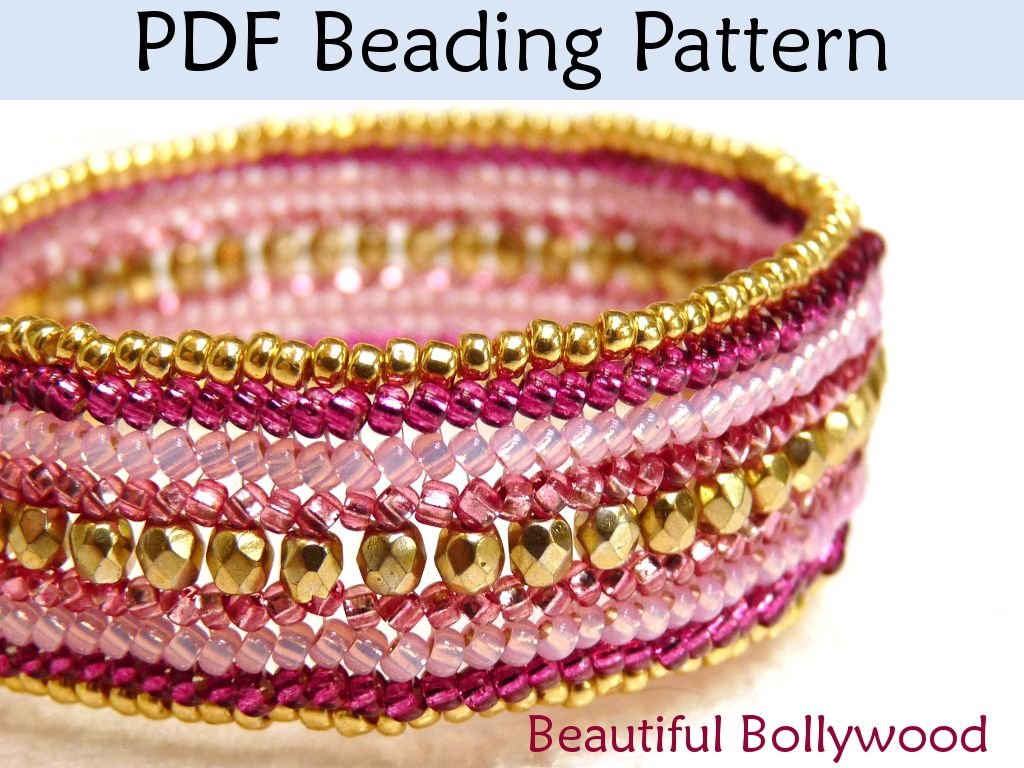 Beautiful Bollywood Herringbone Bracelet Beading Pattern