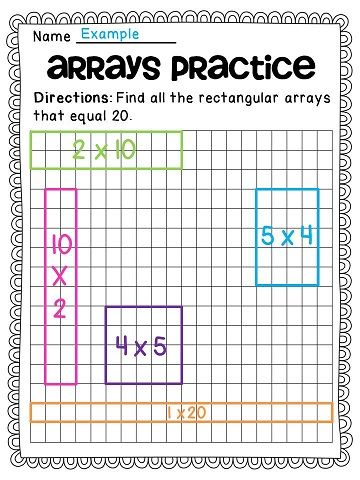 Arrays Arrays Arrays Tpt Math Lessons Pinterest Math Math