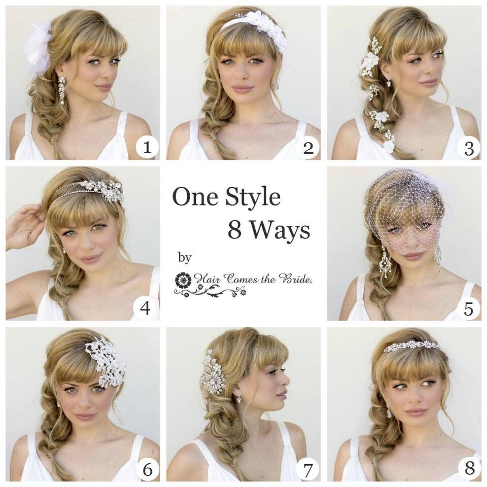 One style 8 ways | Wedding Hair & Make-up | Pinterest | Hair style