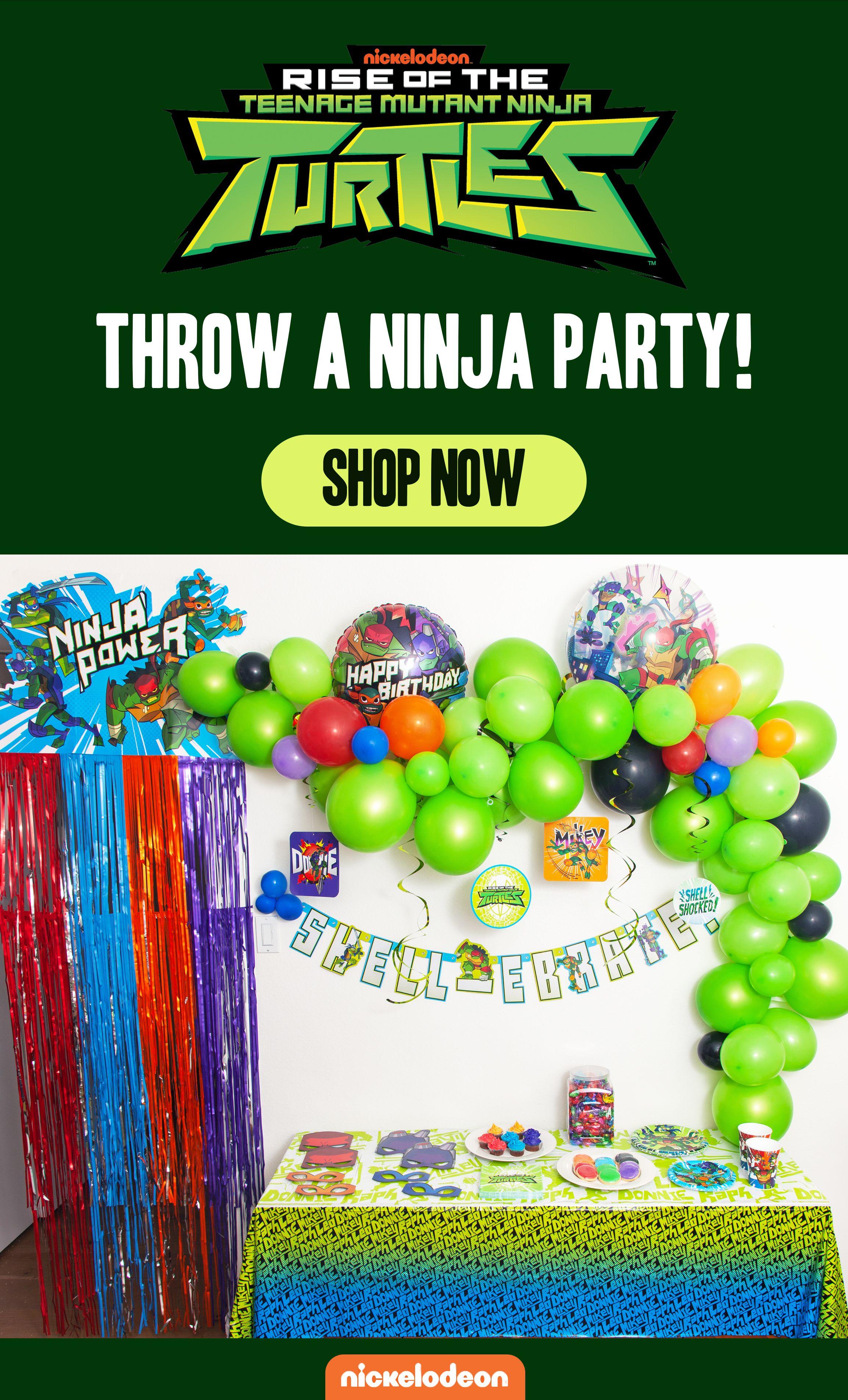 Throw A Ninja Party Ninja Turtle Birthday Mutant Ninja Turtles Party Turtle Birthday Parties
