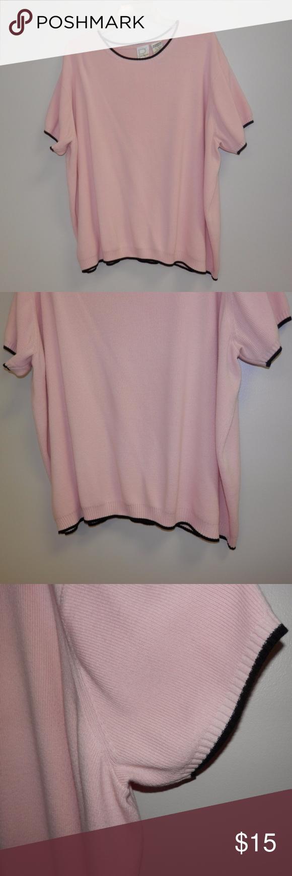 2X Roman's Light Pink Short Sleeve Sweater Roman's Size 2X light ...