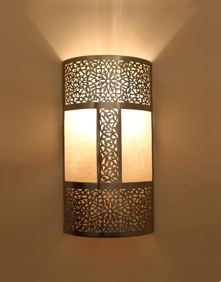 Moroccan Wall Light with Parchment  Medium Yellow Brass Sconce Beautifully  handcrafted Moroccan wall light finely chiseled and engraved by. moroccan wall lights 2 jpg  440 560    lamp   Pinterest   Lights