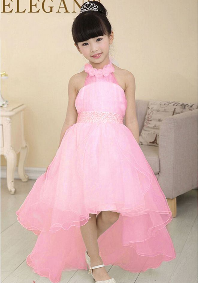 elegant flower girls dress childrens princess cute baby girl baptism dresses wedding party birthday gift for