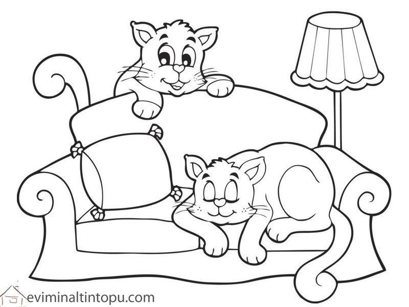 1 Sınıf Kedi Boyama Ile Ilgili Görsel Sonucu Kedi Boyamaları