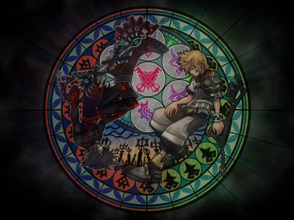 Kingdom Hearts Stained Glass Wallpaper kingdom hearts