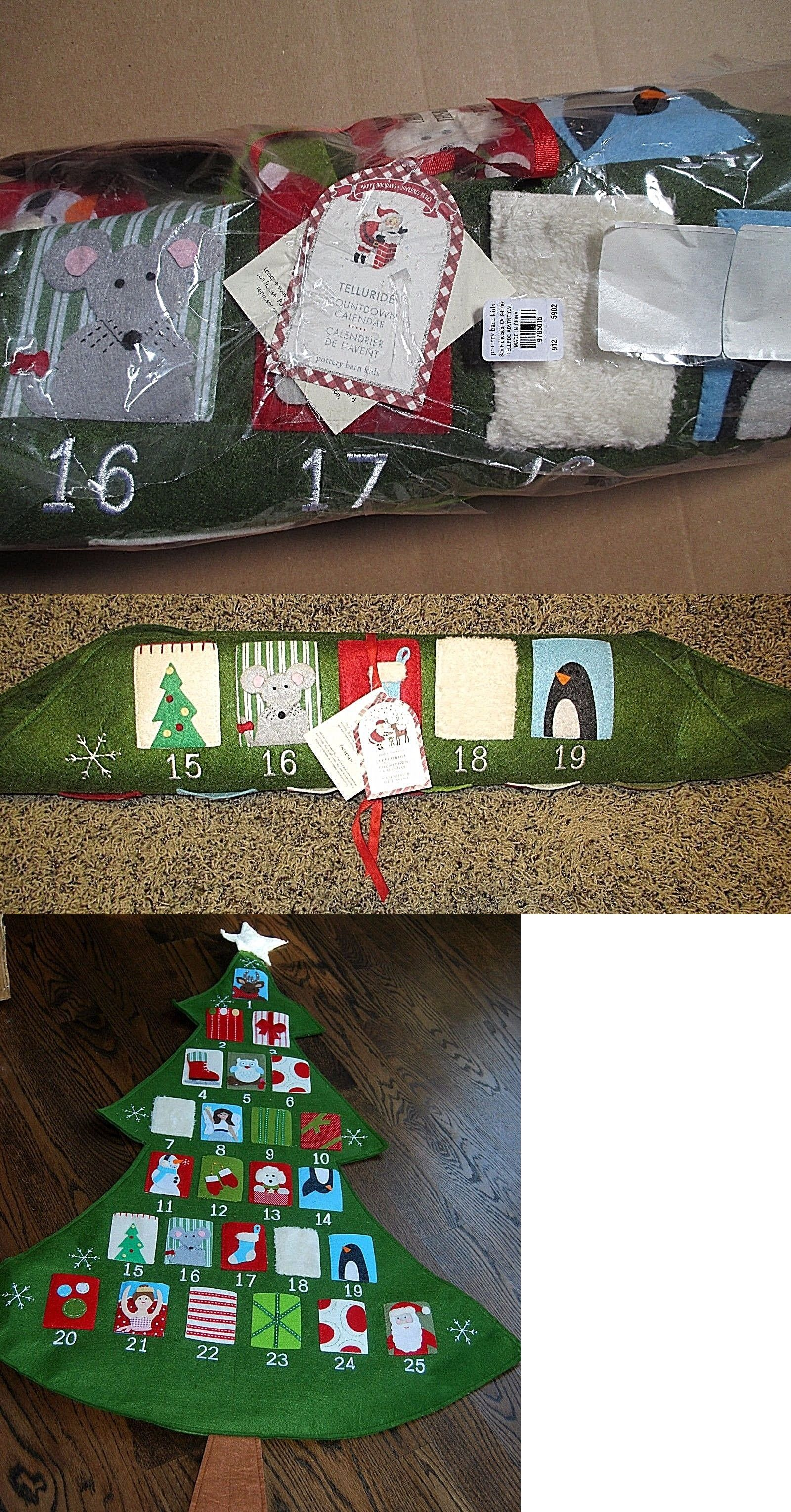 dad polar advent sherpa kids christmas barn pin bear woodland stockings new barns pottery calendar mom ebay