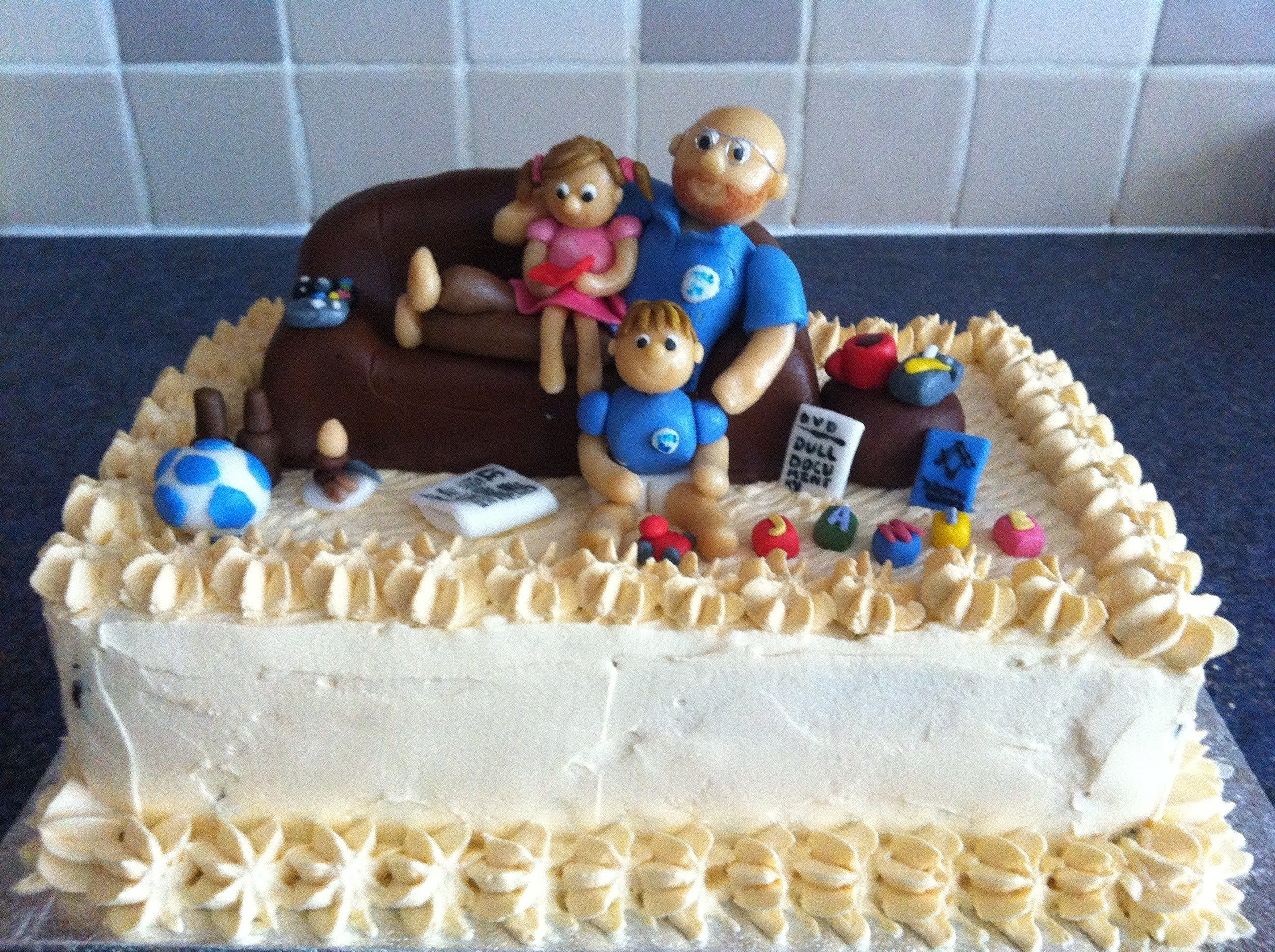 birthday cake for husband with love