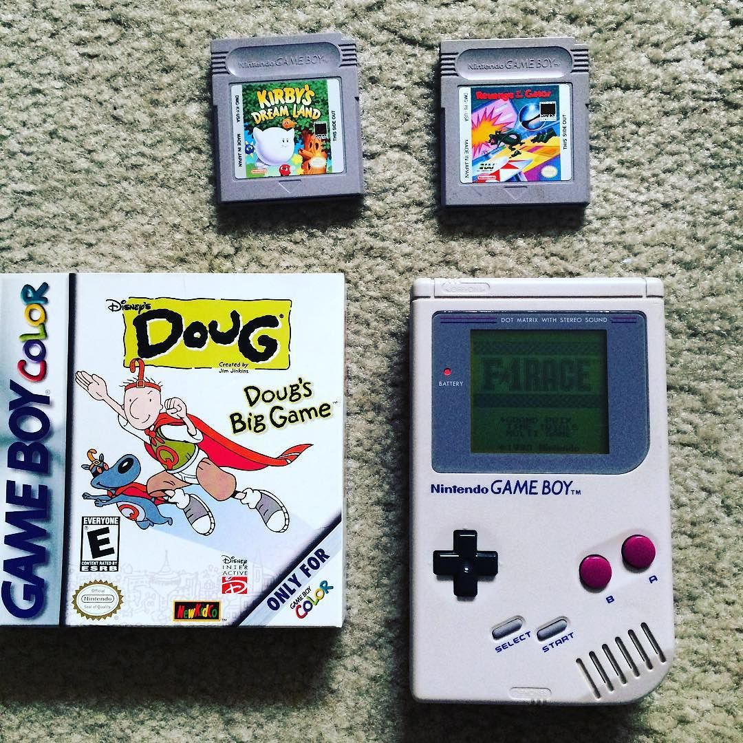 On instagram by incessantbookworm  #gameboy #microhobbit (o)  http://ift.tt/1RT3qB7  A real #tbt Found these in storage! What was your favorite game?  classic #tetris #kirby #nintendo