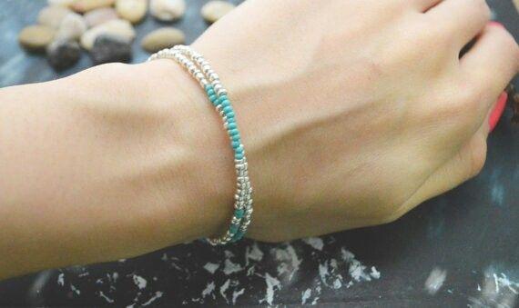 Seed bead double bracelet