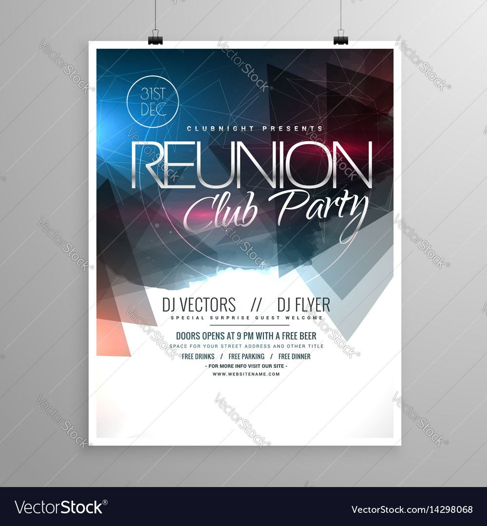 Event Club Party Flyer Template Brochure Design Download A Free - Adobe illustrator flyer template