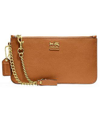 0b4abaab09 COACH MADISON LEATHER CHAIN WRISTLET - COACH - Handbags   Accessories -  Macy s