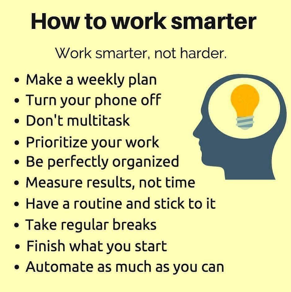 Work Smarter Not Harder Work Smarter Mindset Coaching