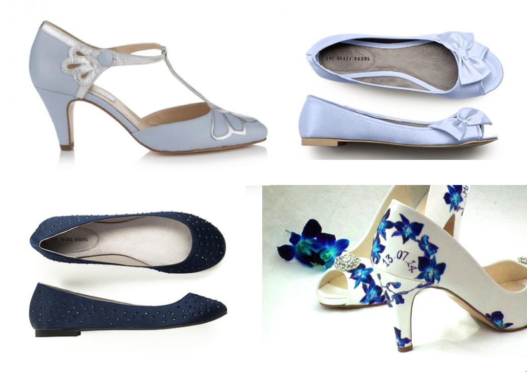 Blue Coloured Wedding Shoes
