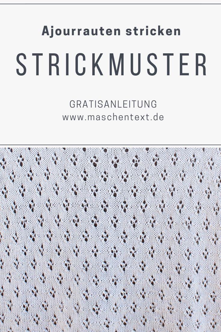 Photo of Strickanleitung: Ajour Rhombuses stricken | maschentext.de