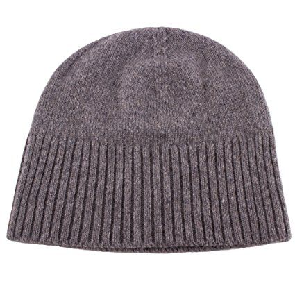 02f5ef981cf Love Cashmere Women s 100% Cashmere Ski Beanie Hat – Light Gray – Handmade  In Scotland by RRP  130 Review