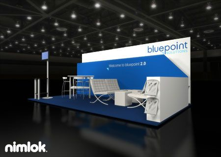 Nimlok Designs Custom And Portable Modular Trade Show Exhibits Financial Booths For