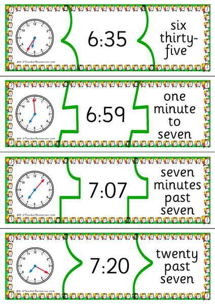 Telling time puzzles k 3 teacher resources time worksheet game telling time puzzles k 3 teacher resources ibookread PDF