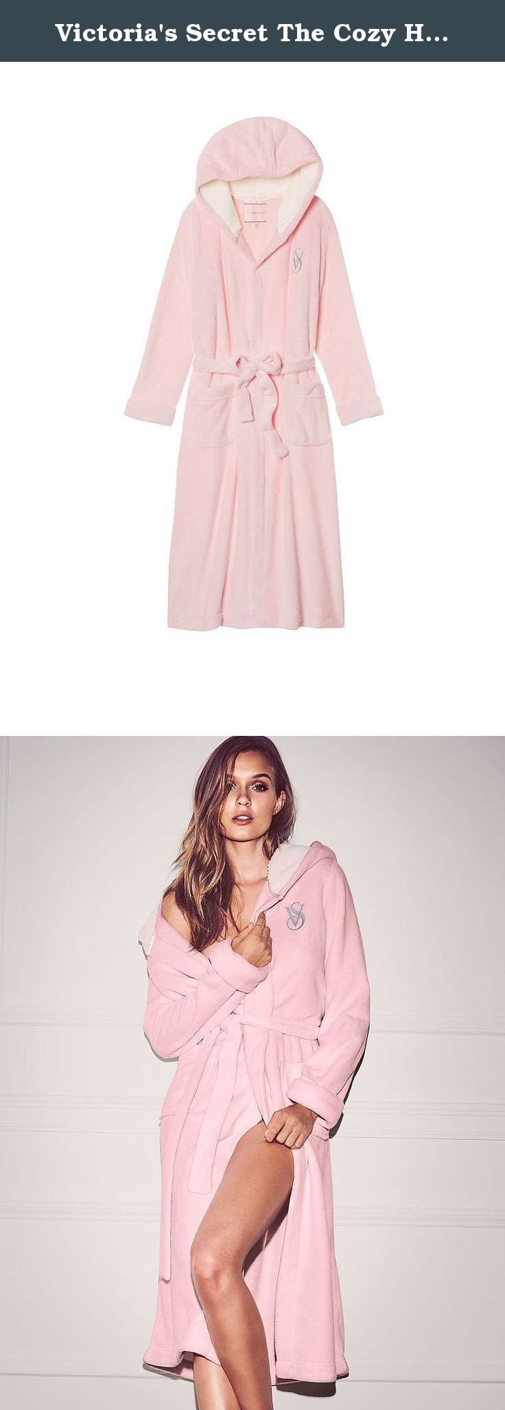 d4edaf2f37 Victoria s Secret The Cozy Hooded Long Robe Medium Angel Pink. oft and warm  in plush