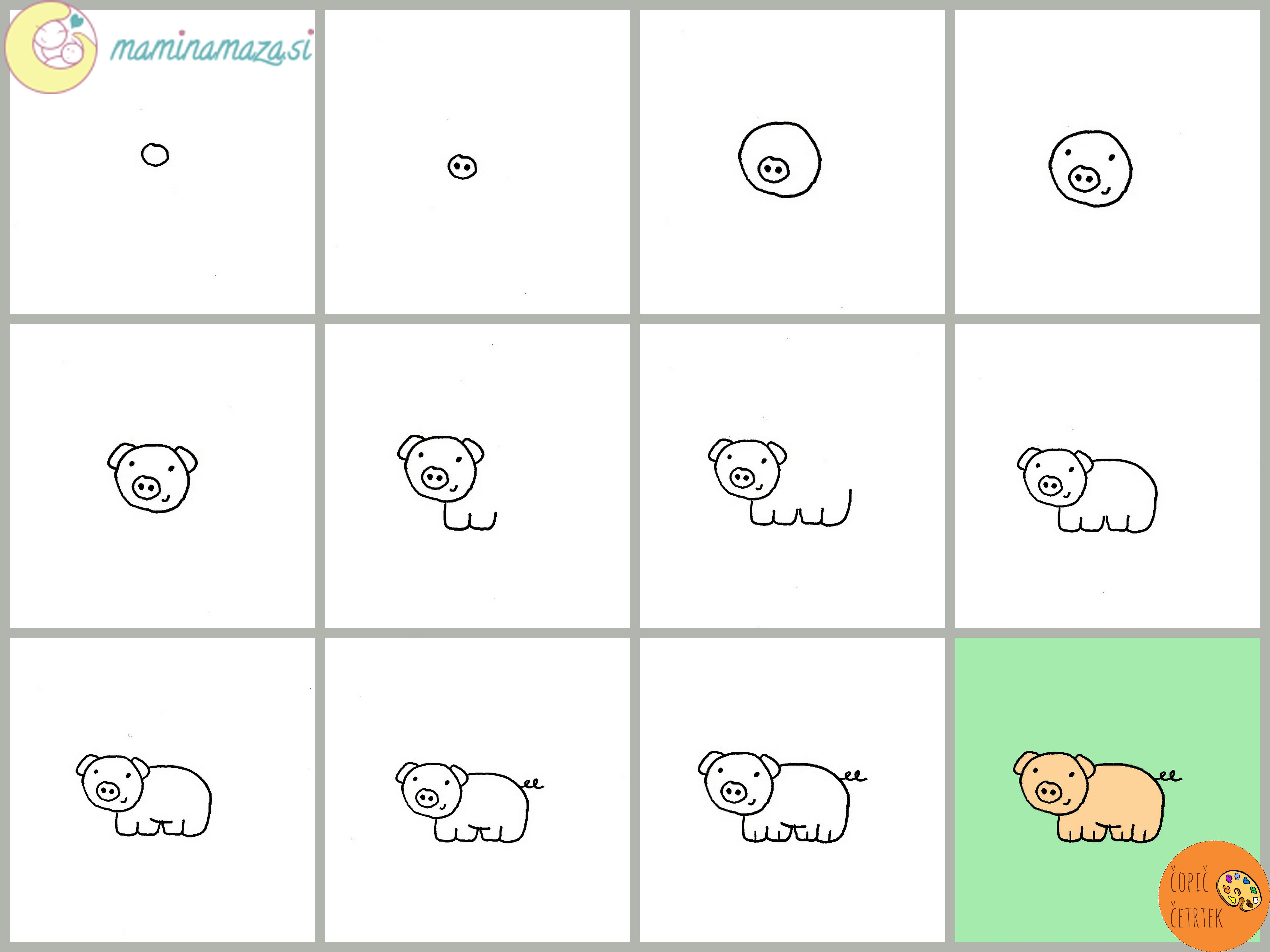 Uncategorized Easy Way To Draw A Pig se risati pujska easy way to draw a pig risanje pig