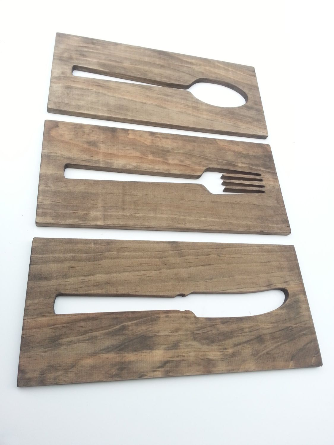Wall Art For Kitchen Kitchen Art Fork Spoon Knife Wooden Plaques Wall By Timberartsigns