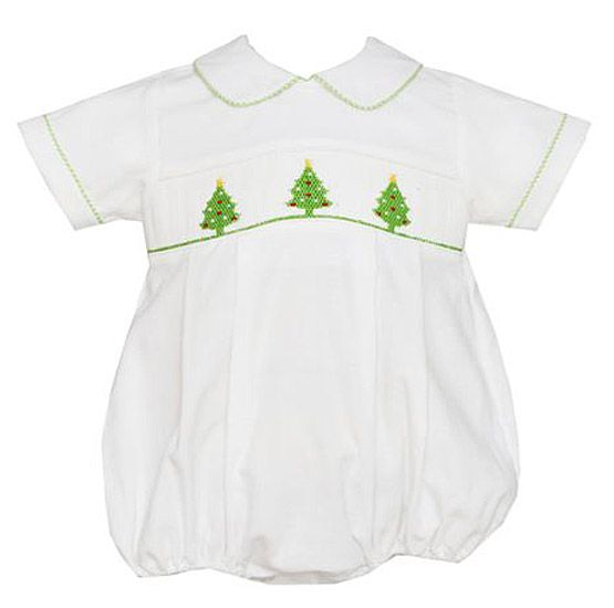 fa327878b Anavini Baby Boys Winter White Corduroy Smocked Green Christmas ...