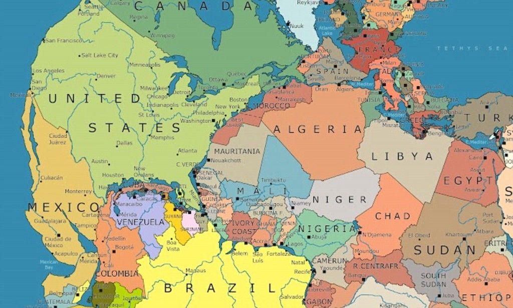 Driving From Maine To Morocco Map Of Supercontinent Pangaea With