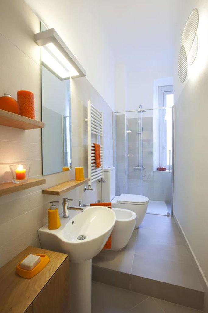 Photo of 15 idee di design per arredare un bagno stretto e lungo
