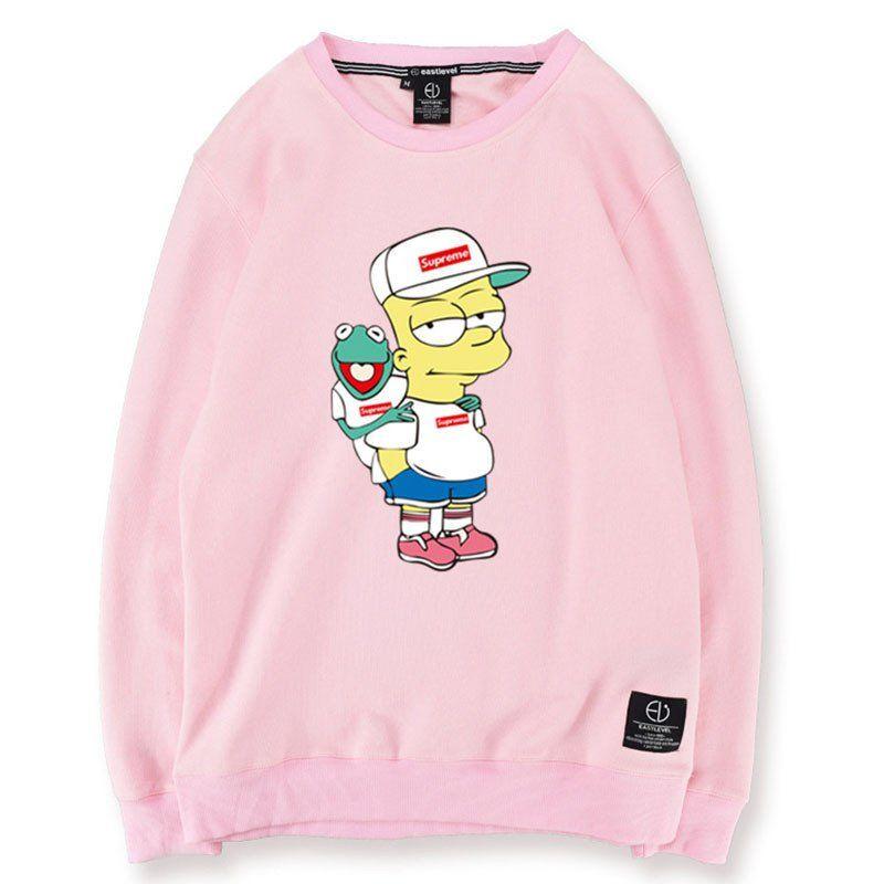 Bart Simpson X Kermit Supreme Sweatshirt  04af7dc8545f7
