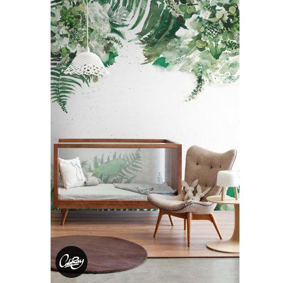 Tapeten Tropische Grün Blatt Lösbare Tapeten Ein Designerstück Von Coloray  Bei DaWanda
