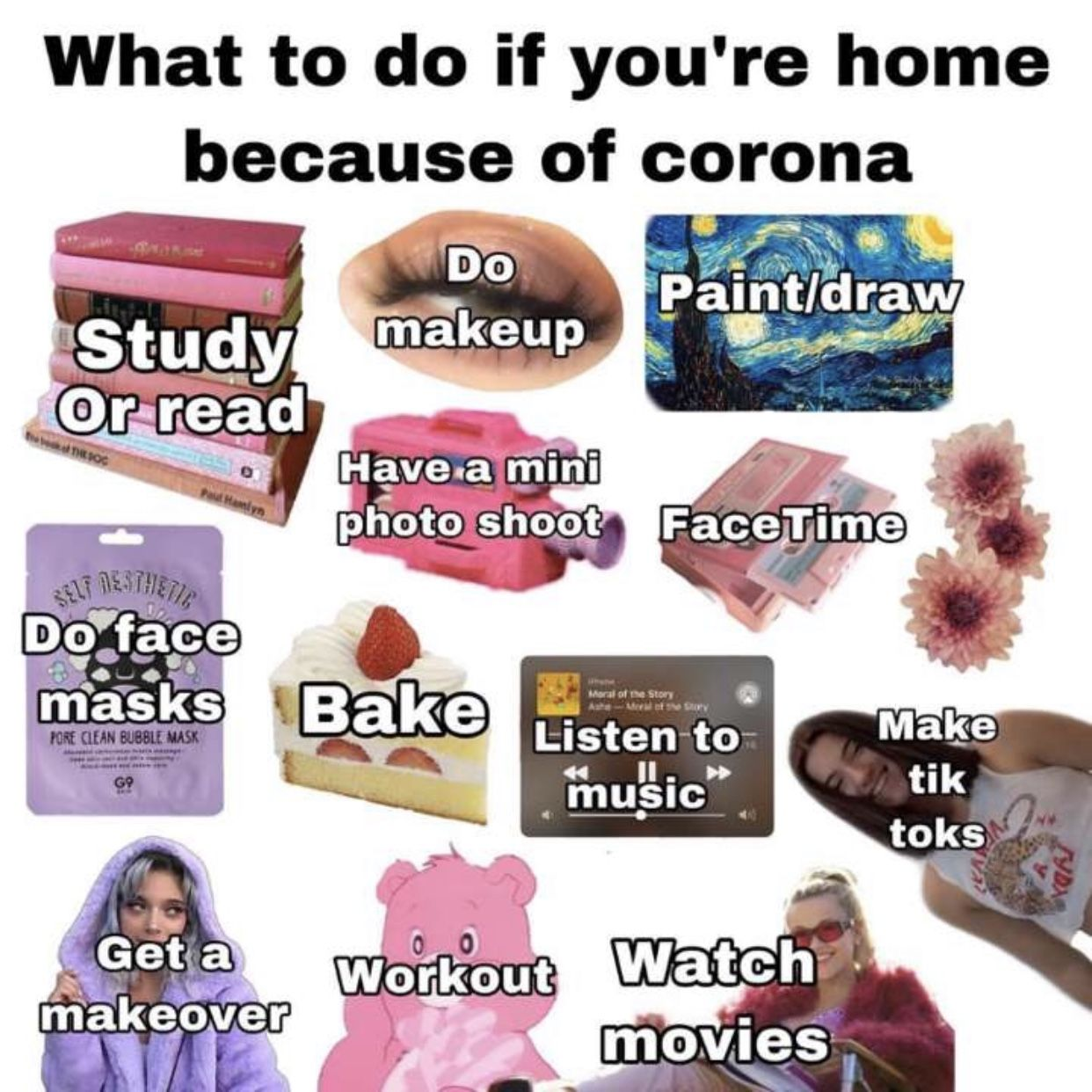 Pin By M A D E L E I N E On Niche Memes Things To Do When Bored What To Do When Bored Just Girl Things