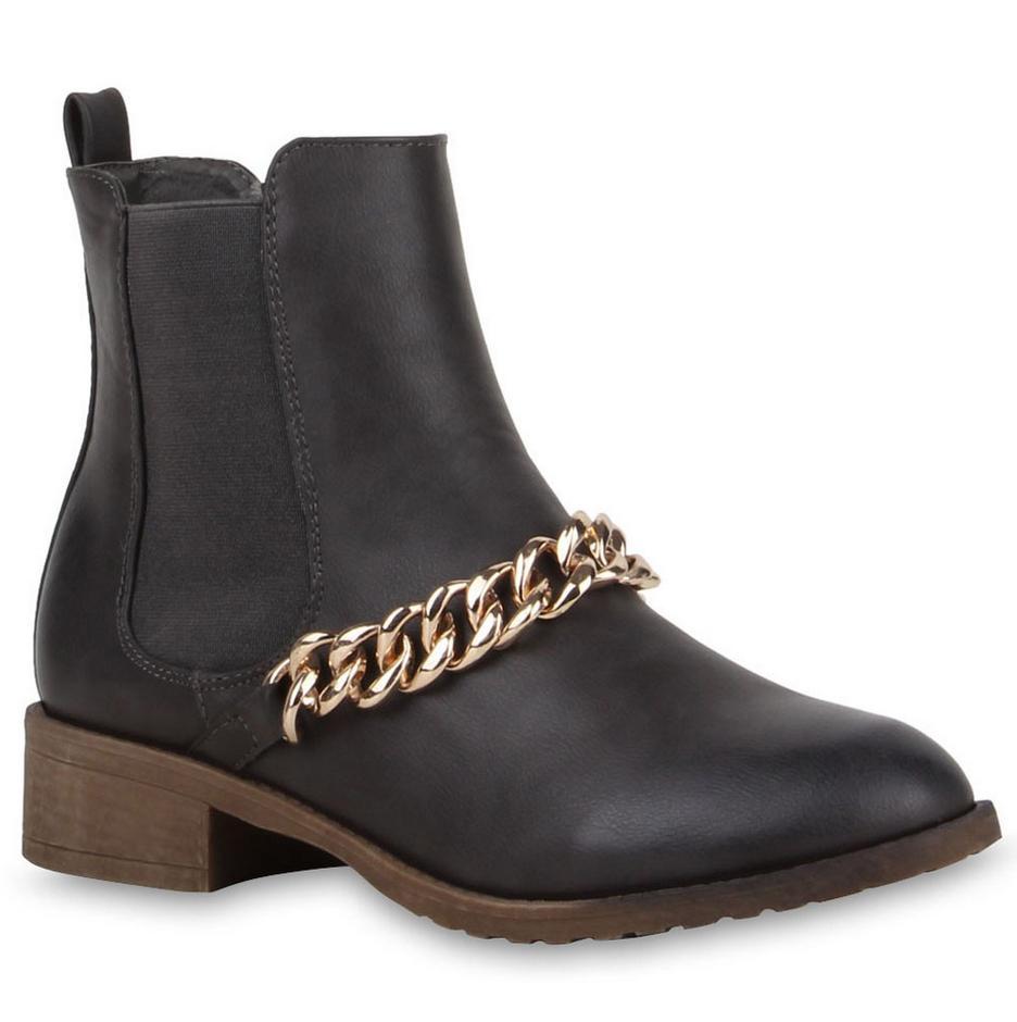 best website e1a40 b441c Damen Stiefeletten Chelsea Boots - Grau | ♥ Ketten ...