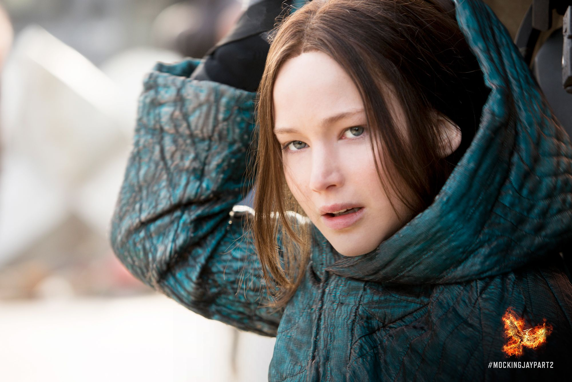 Going undercover in the Capitol… Katniss Everdeen. #MockingjayPart2