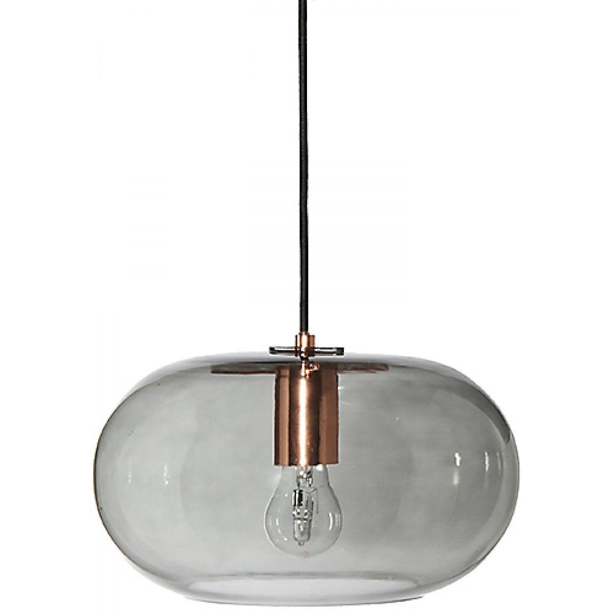 FRANDSEN Kobe Smoke Glass and Copper Pendant Lamp  Shops