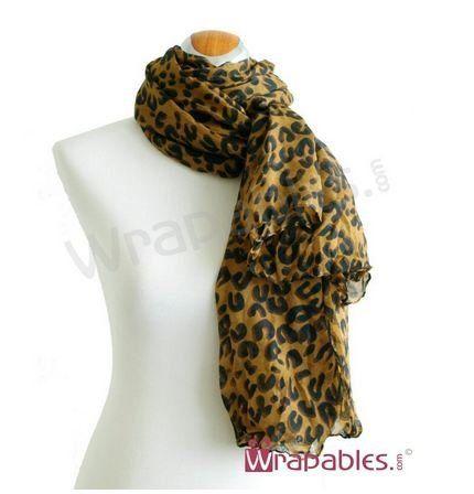 TOPSELLER! Designer Inspired Leopard Scarf - Brown $0.50