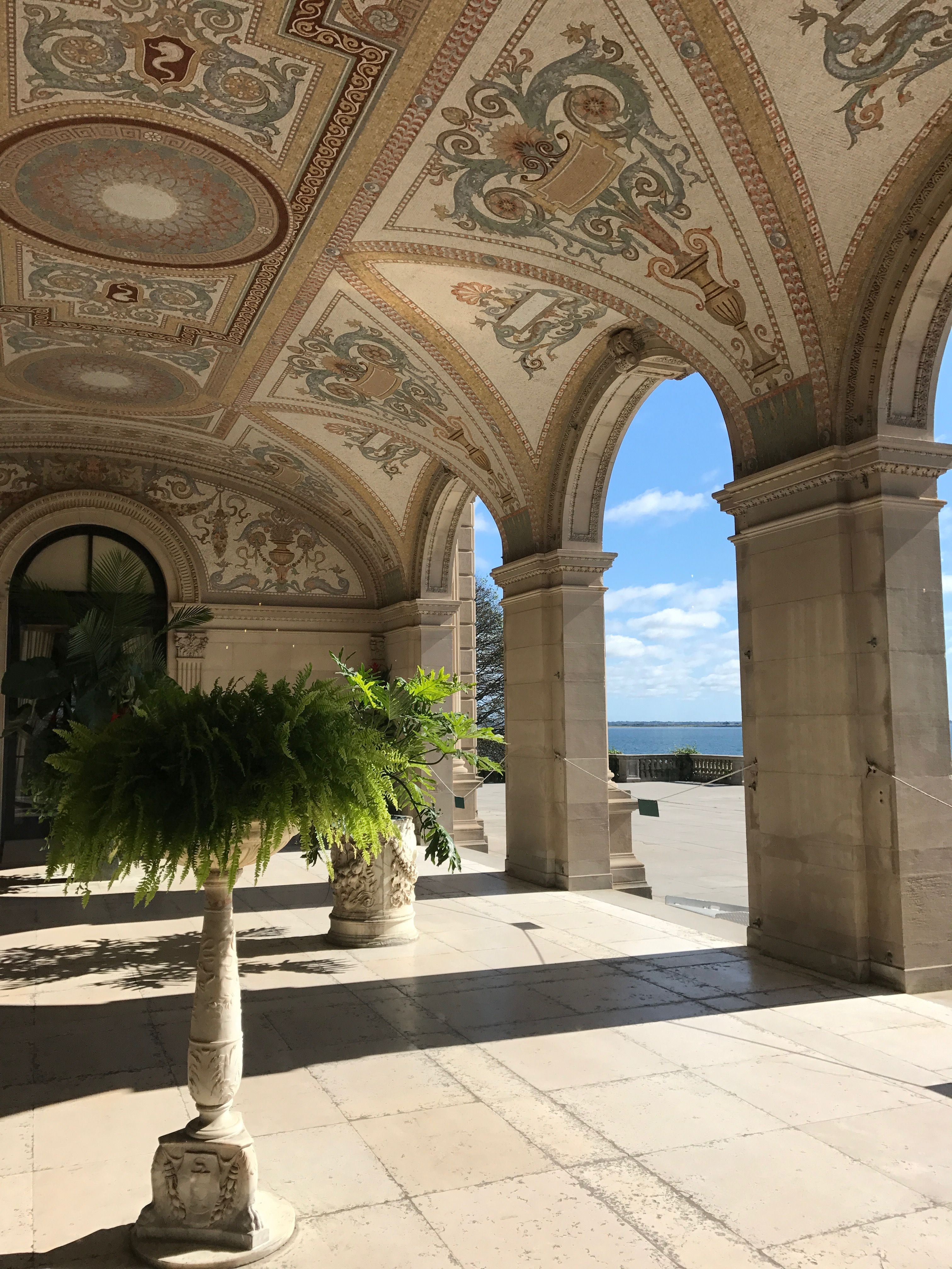 Outdoor Loggia -The Breakers Mansion | Ocean air, Mansions