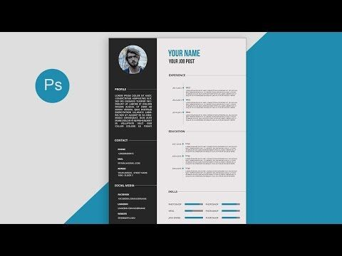 CV Resume template Design tutorial with Photoshop free PSD+DOCS+ - docs resume template