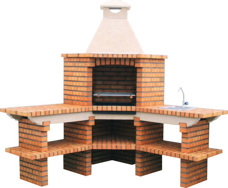 Dise asador de ladrillo cosas para casita pinterest for Diseno patio