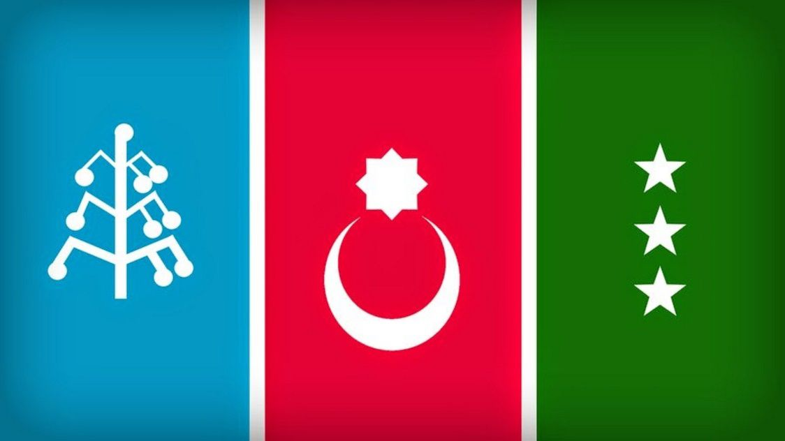 Halach Turkish Nation Flagin Iran Turkish Nations Flags80