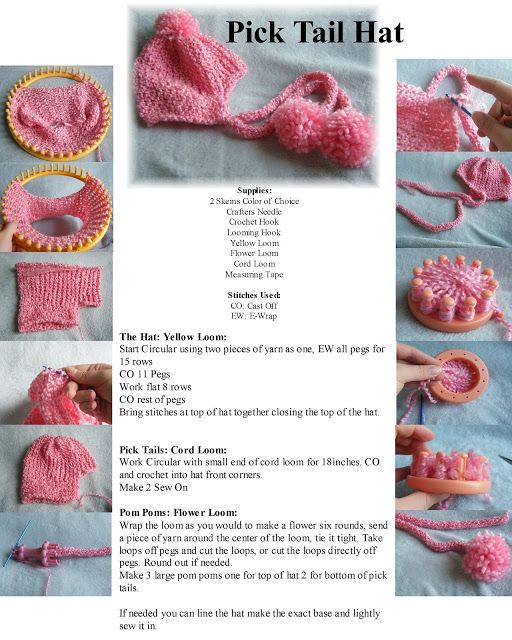 The Loom Muse Creations and Ideas: Pick Tail Hat Pattern | Telar ...