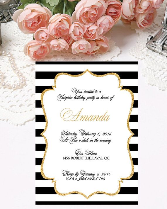 Printable Birthday Invitations Digital by PapierCouture1 on Etsy