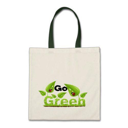 Ladybug Go Green Tote Bag Zazzle Com Green Tote Green Tote Bag Bags