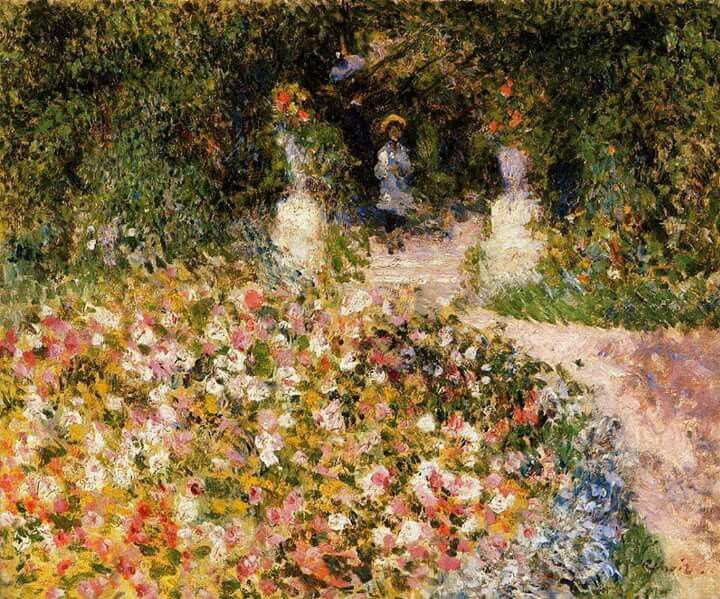 The garden  (also known as in the park). Pierre Auguste Renoir ( 1841.1919 ).