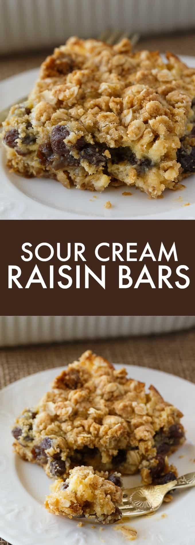 Sour Cream Raisin Bars Recipe Fun Baking Recipes Raisin Cookie Recipe Raisin Pie