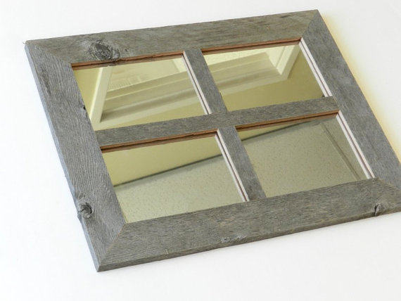 Rustic 2 In 4 Pane Window Style Family Frame Mirror Or Clear Glass Multi Photo Collage Picture Frames 5x7 Multiple Openings Wedding Window Mirror Barn Wood Frames Window Styles